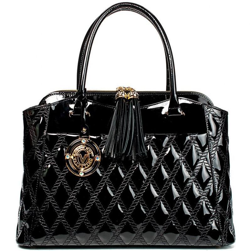 Сумка женская Valentino Orlandi VO 5449 black patent leather