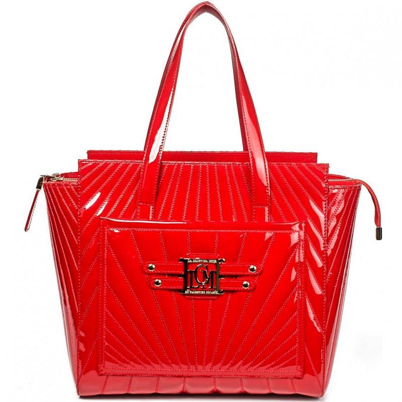 Сумка женская Valentino Orlandi VO LCM1039V red patent leather