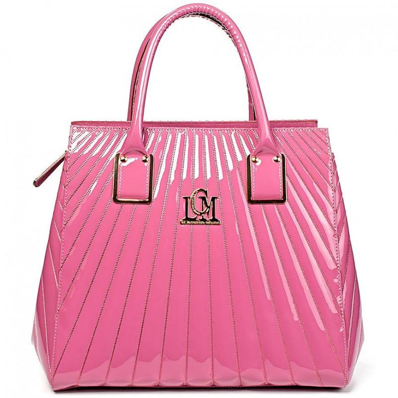 Сумка женская Valentino Orlandi VO LCM1041V pink patent leather