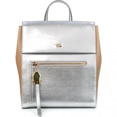 Сумка-рюкзак женская Cavalli Class C81PWCPC0085T36 silver/taupe Brigitte 00