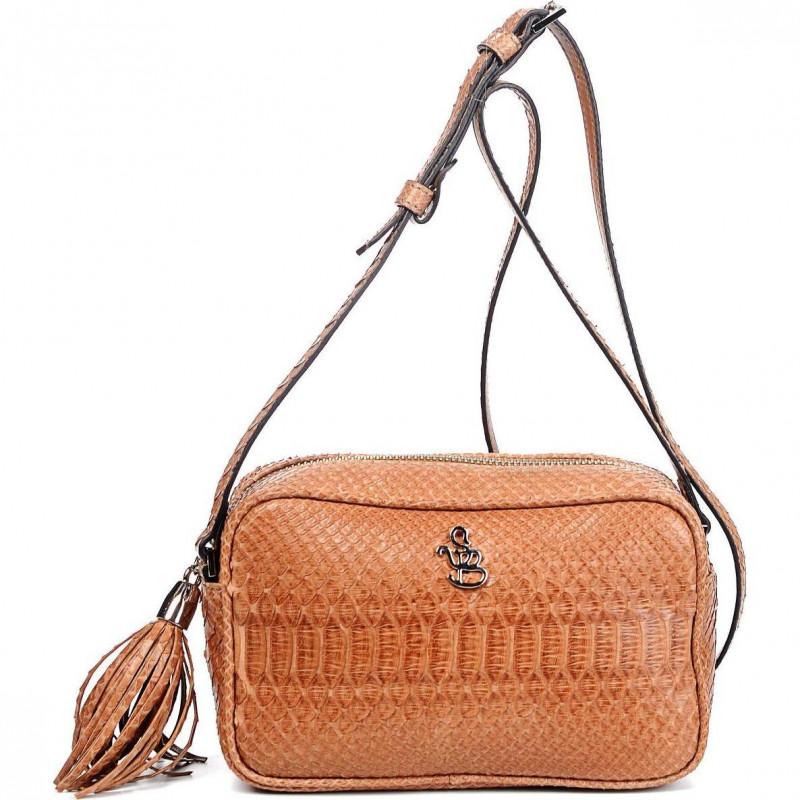 Сумка-клатч женская Silvano Biagini SB8193 marrone/beige python bag