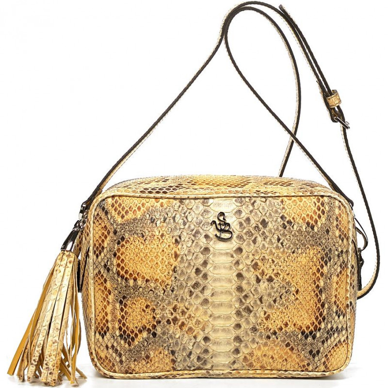 Сумка-клатч женская Silvano Biagini SB8568 beige chiaro python bag