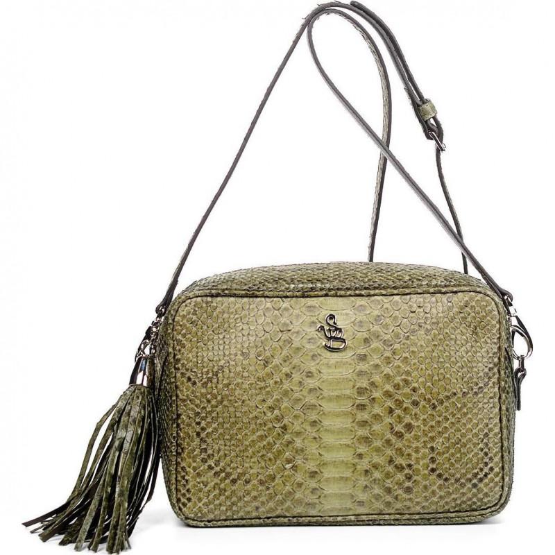 Сумка-клатч женская Silvano Biagini SB8568 oliva python bag