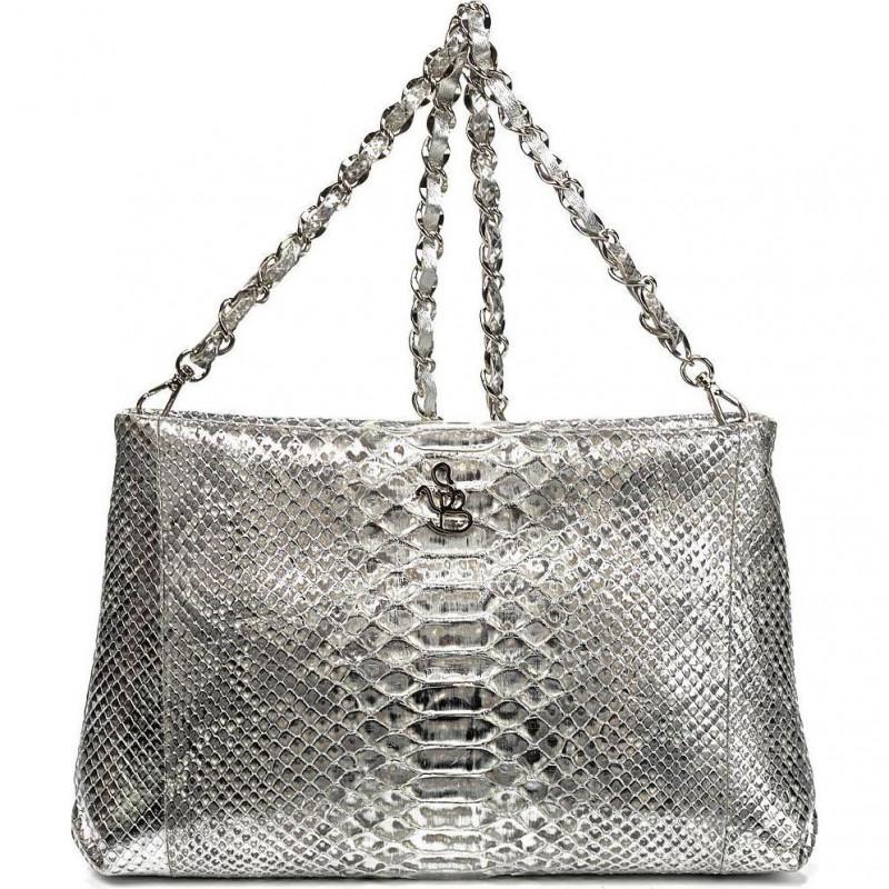 Сумка-клатч женская Silvano Biagini SB8741 argento python bag