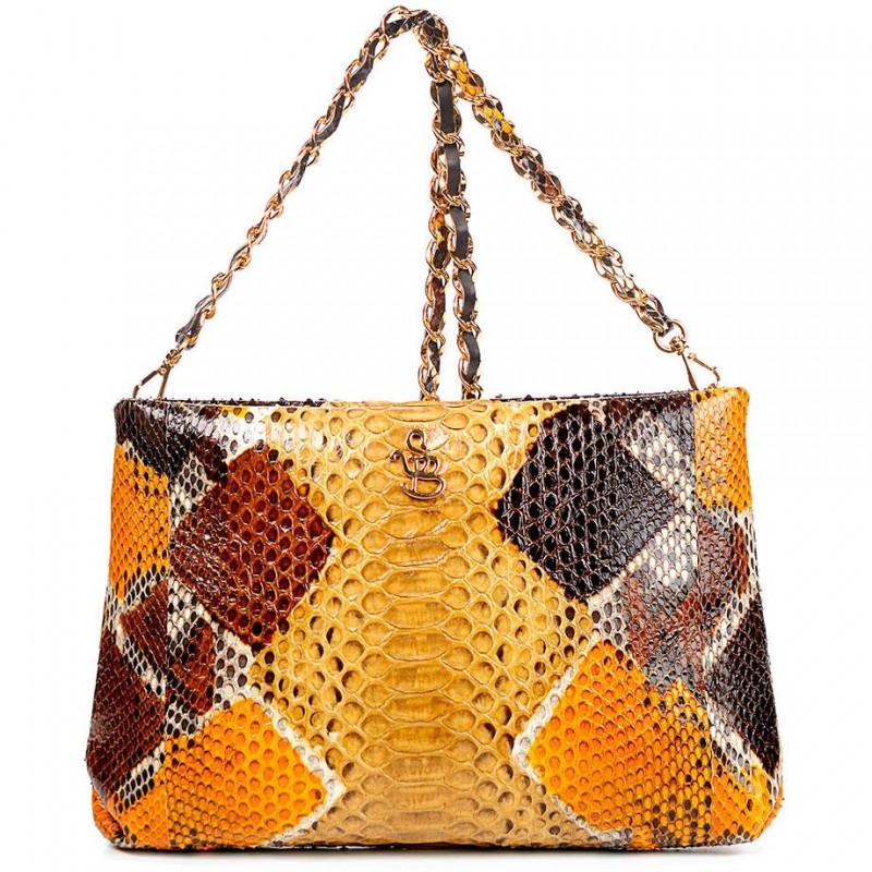 Сумка-клатч женская Silvano Biagini SB8741 beige/ruggine python bag