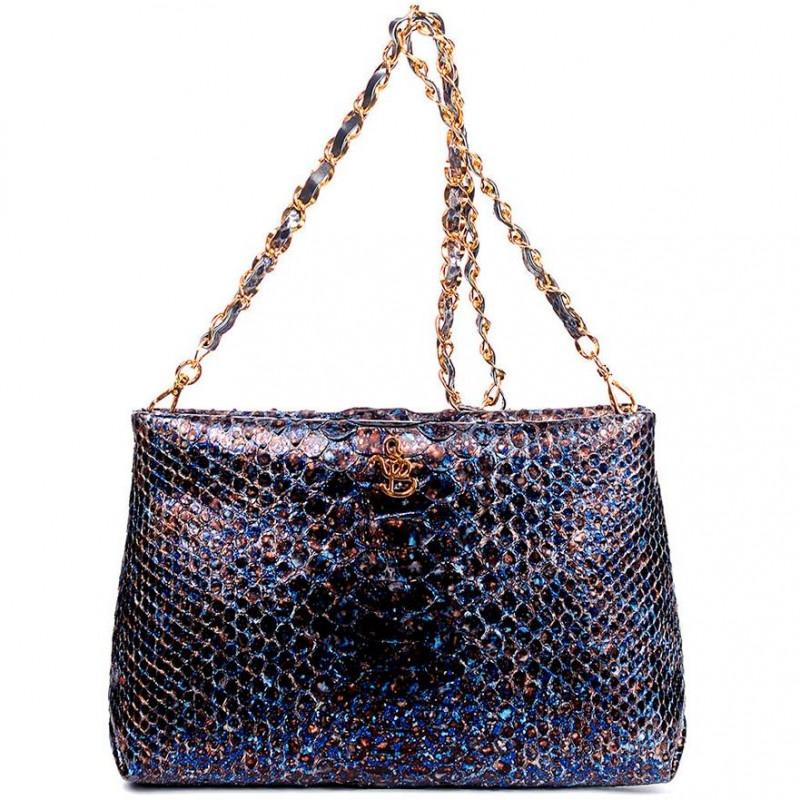 Сумка-клатч женская Silvano Biagini SB8741 blue python bag