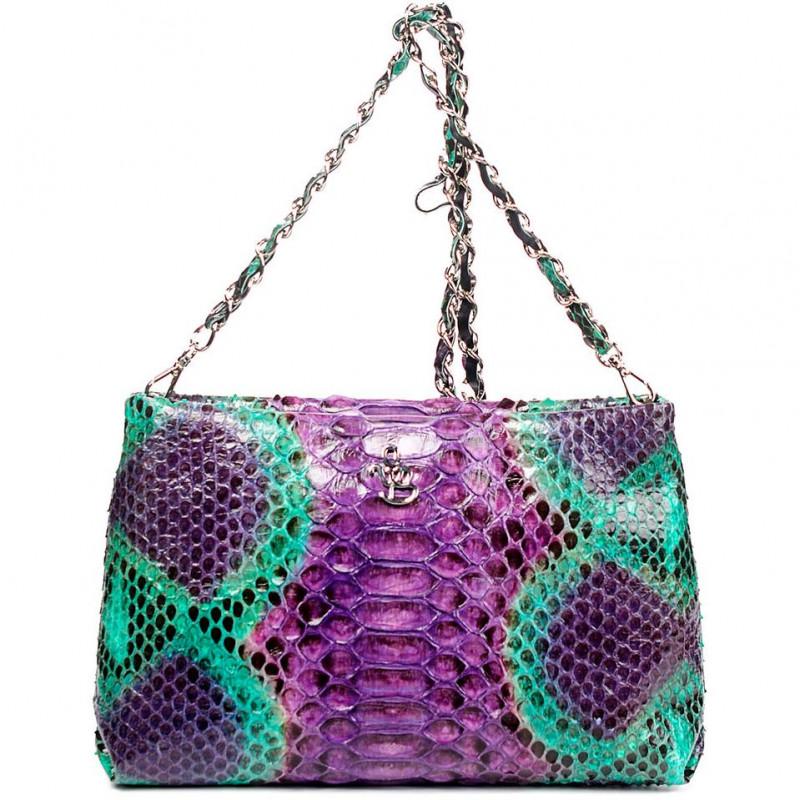 Сумка-клатч женская Silvano Biagini SB8741 magenta/smeraldo python bag