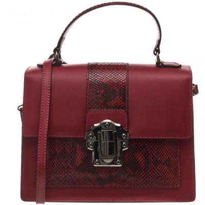 Сумка женская Piumelli Dora Snake red Ruga/Python leather