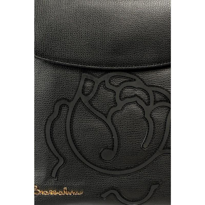 Сумка-рюкзак женская Braccialini B12195 PP 100 nero scarlet pelle