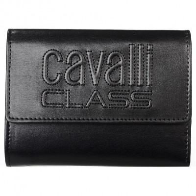 Кошелёк женский Cavalli Class C92PWCED7603999 black w/zipper and cc Vi