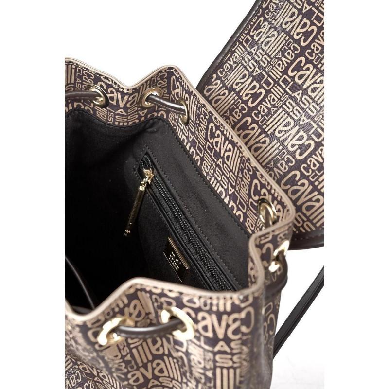 Сумка-рюкзак женская Cavalli Class C92PWCSD0055025 brown Monogram 005