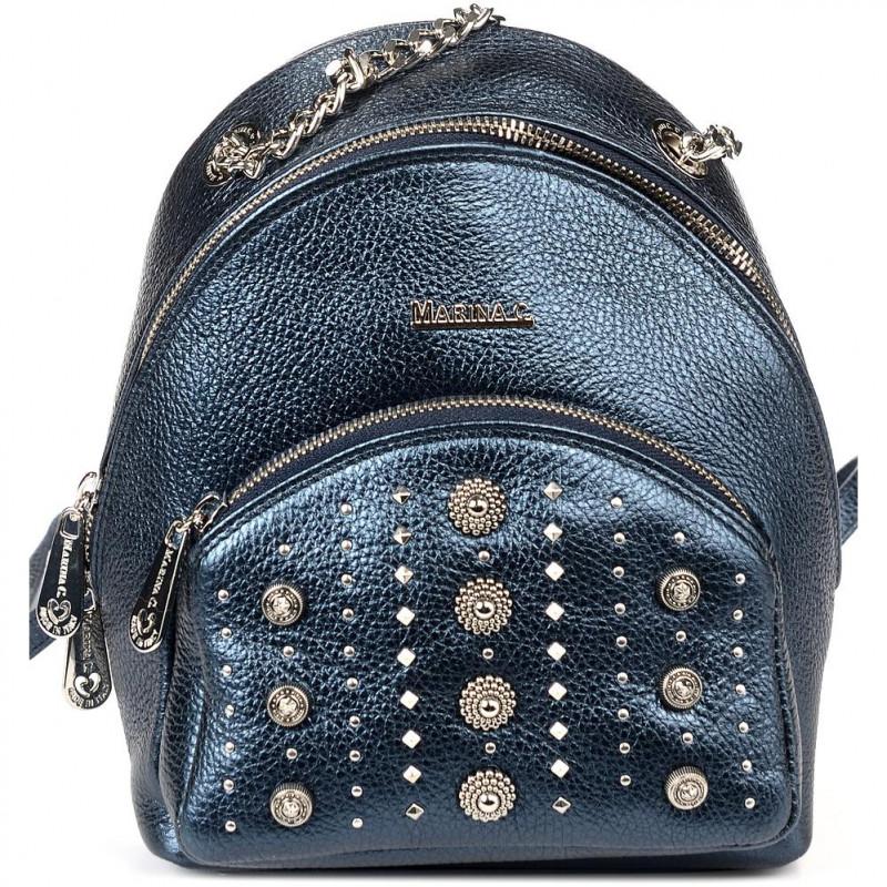 Сумка-рюкзак женская Marina Creazioni B4554 cervo lam.blu+nk+fod.nera