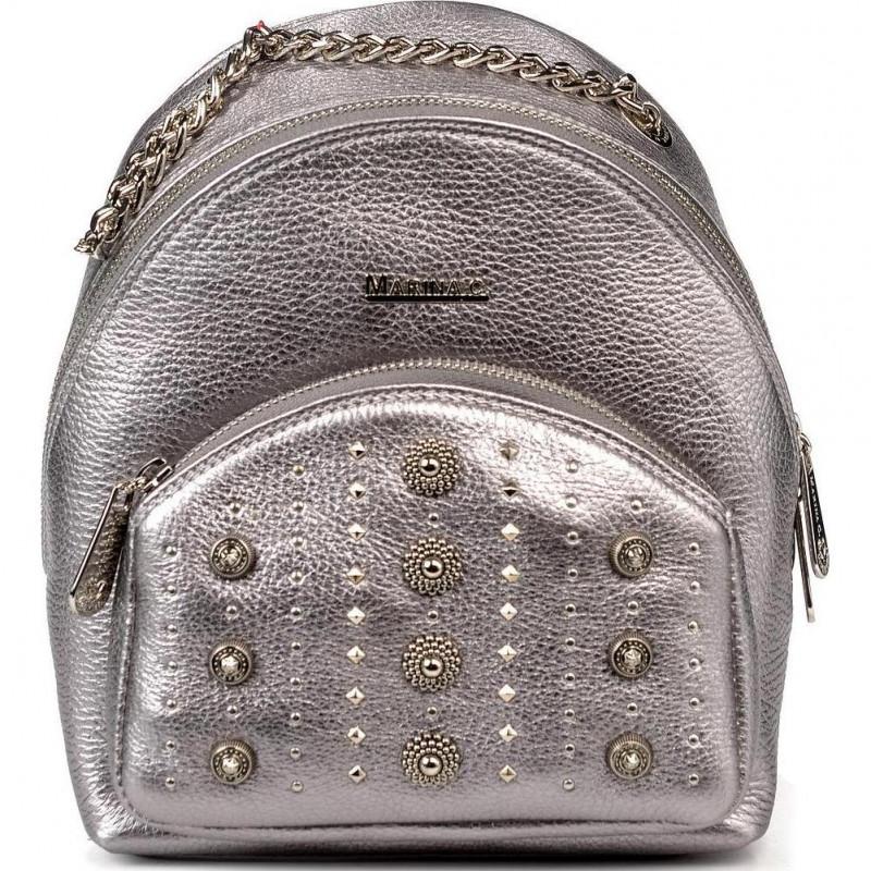 Сумка-рюкзак женская Marina Creazioni B4554 pegaso lam.piombo+nk+fod.gri/arg.