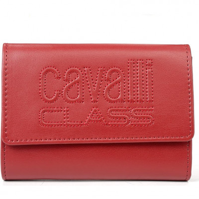 Кошелёк женский Cavalli Class C93PWCED7603062 dark red w/zipper and cc