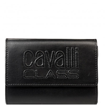 Кошелёк женский Cavalli Class C93PWCED7603999 black w/zipper and cc Vi