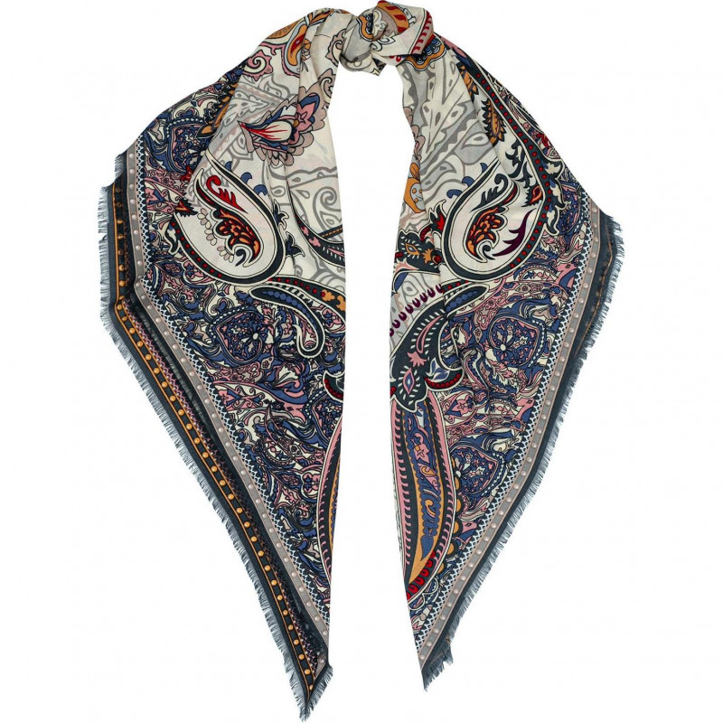Платок женский Eleganzza D34-1224-12 виск+шелк 110х110