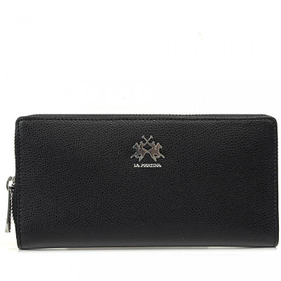 Кошелёк женский La Martina LM41W007P0005 black wallet NEVADA