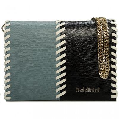 Сумка-клатч женская Baldinini G2APWG3M0012T69 light green/black/white