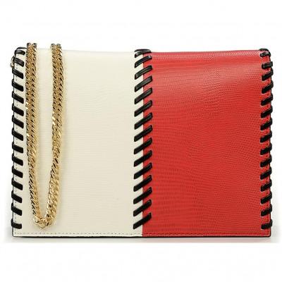 Сумка-клатч женская Baldinini G2APWG3M0022T26 red/white/black Elisa 00