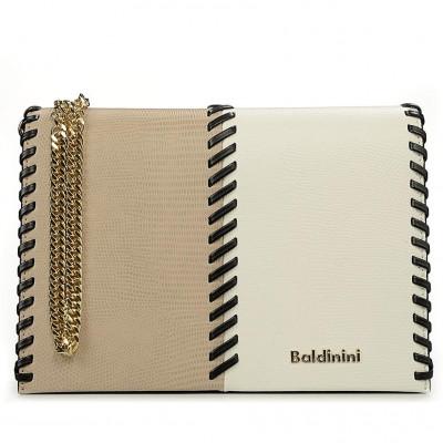 Сумка-клатч женская Baldinini G2APWG3M0022T70 beige/white/black Elisa