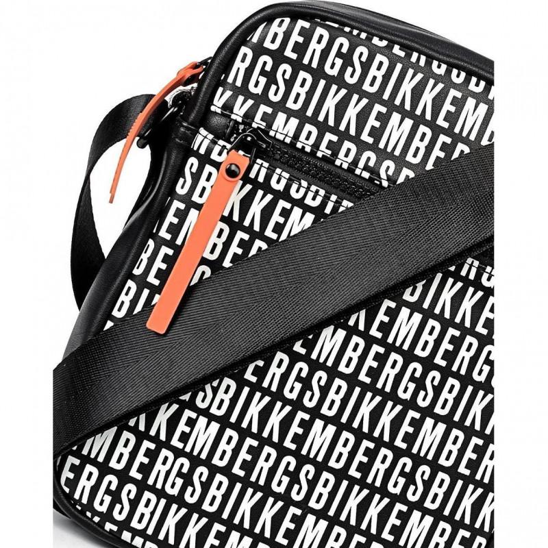 Сумка-клатч мужская Bikkembergs E2APME810012B01 black/white All Over 001