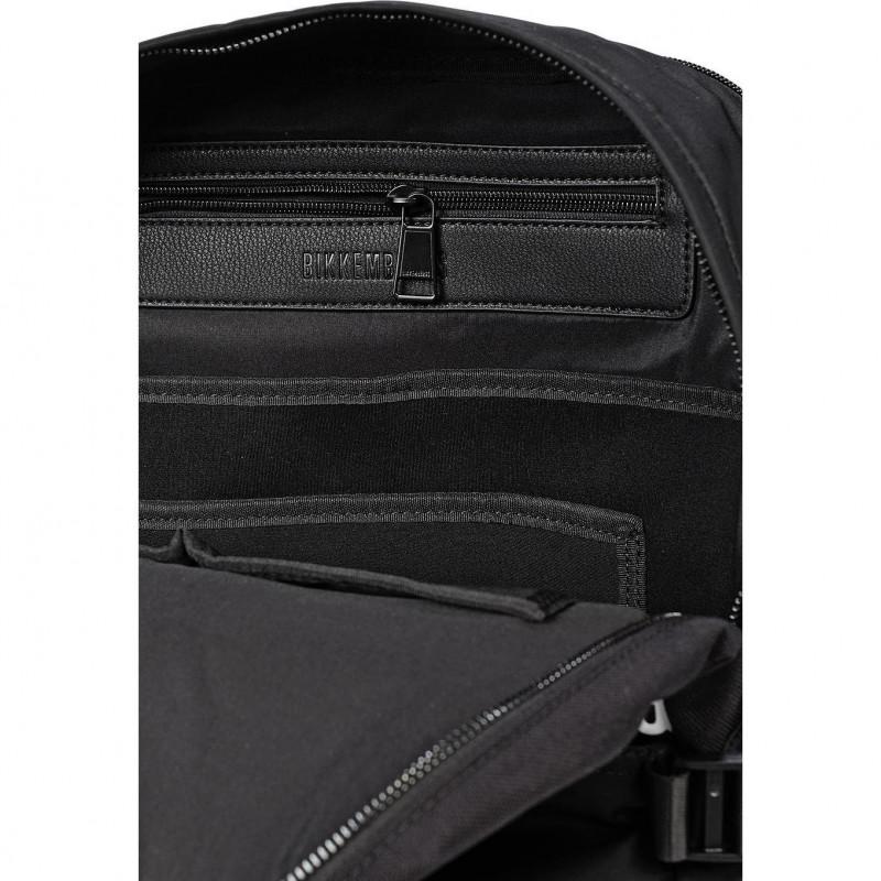 Сумка-рюкзак мужская Bikkembergs E2APME800055B01 black/white Rubber Tape