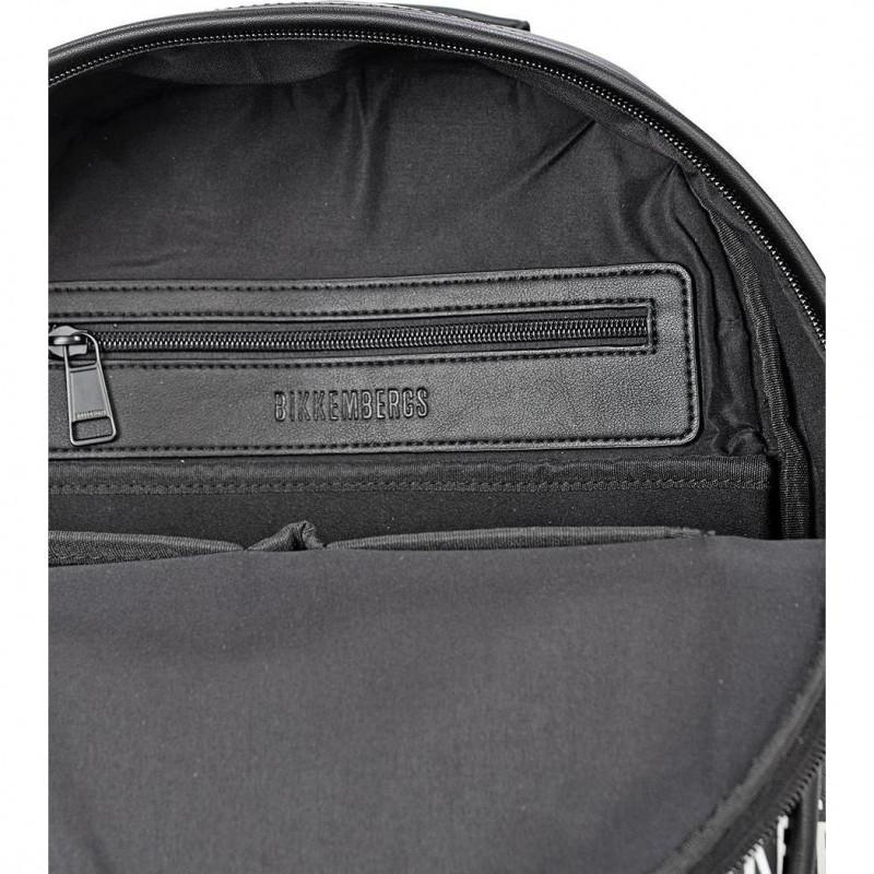 Сумка-рюкзак мужская Bikkembergs E2APME810075B01 black/white All Over 007