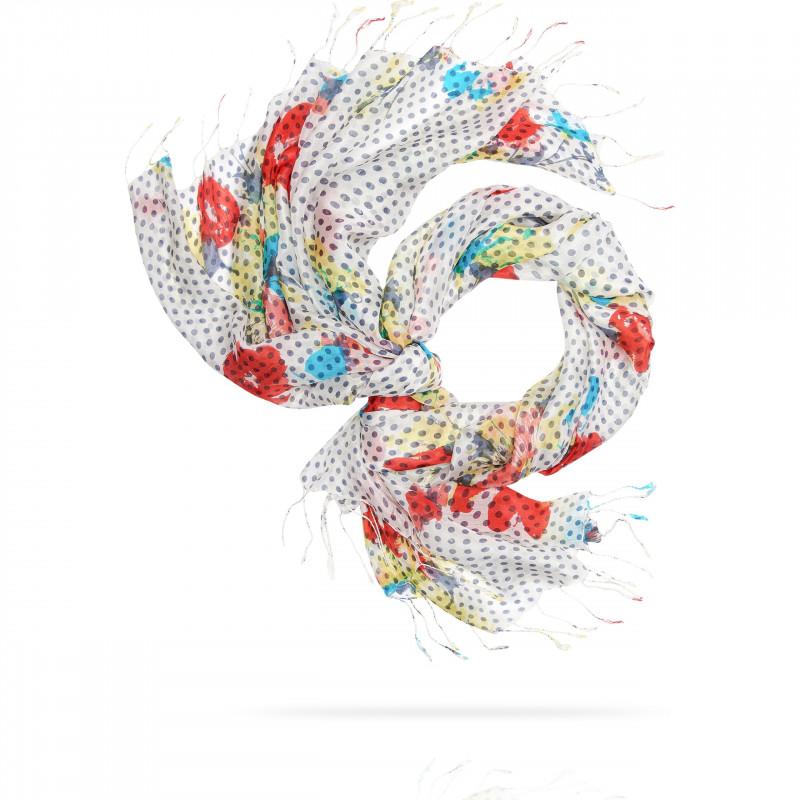 Палантин Женский S30-BRUSH.FLOWER/LIGHT (110 x 180)