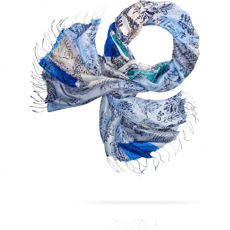 Палантин Женский S30-ICE.AGE/BLUE (110 x 180)