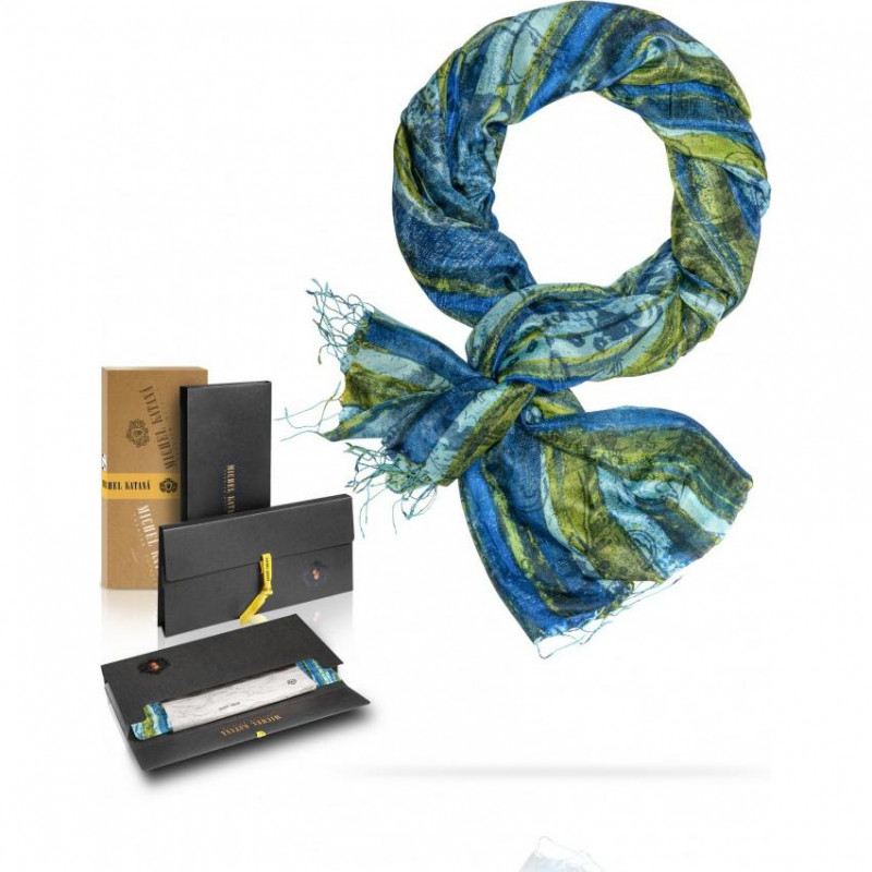 Палантин Женский S30-MONOLIT.ART/BLUE (110 x 180)