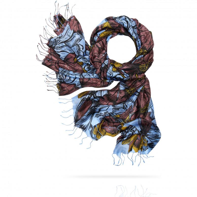 Палантин Женский S30-RENAISSANCE.FL/BROWN (110 x 180)