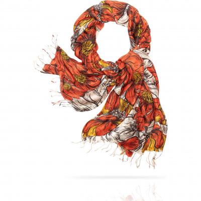 Палантин Женский S30-RENAISSANCE.FL/ORANGE (110 x 180)