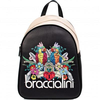 Сумка Braccialini B14805-YY-3131 parrot/nero britney ecopelle