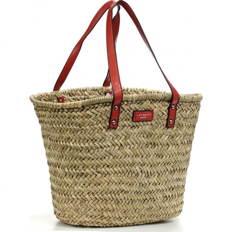 Сумка Kurt Geiger KG4887250019 kensington basket shopper-red-leather/other