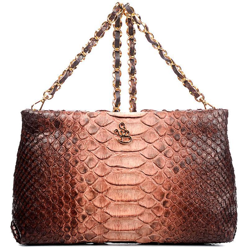 Сумка-клатч женская Silvano Biagini SB8741 cuoio cioccolato python bag