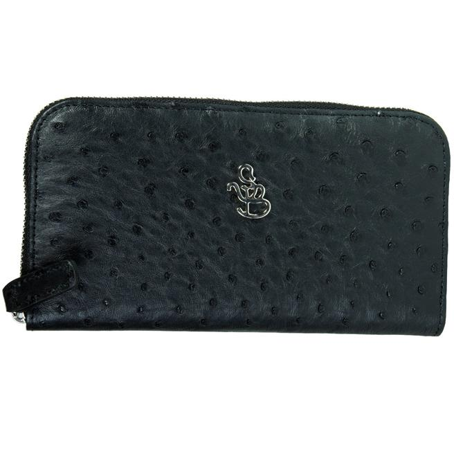 Кошелёк женский Silvano Biagini SB211 nero sb ostrich full wallet